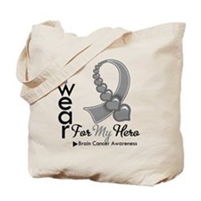 Brain Cancer Hero Ribbon Tote Bag