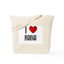 I LOVE RAINA Tote Bag