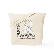 Bone Cancer Hero Ribbon Tote Bag
