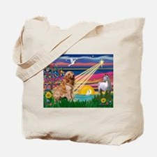 Magical Night Golden Tote Bag