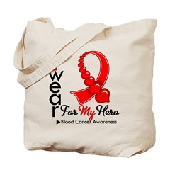 Blood Cancer Hero Ribbon Tote Bag