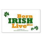 Irish Born Live Die Rectangle Sticker 50 pk)