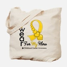 Childhood Cancer Hero Tote Bag