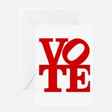 VOTE (1-color) Greeting Card