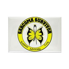 Sarcoma Survivor Butterfly Rectangle Magnet