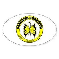 Sarcoma Survivor Butterfly Oval Decal