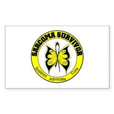 Sarcoma Survivor Butterfly Rectangle Decal