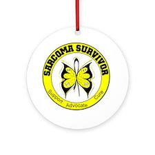 Sarcoma Survivor Butterfly Ornament (Round)