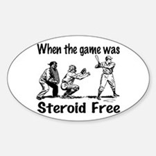 Steroid free baseball Oval Decal