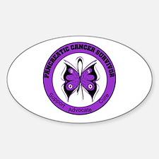 Pancreatic Cancer Survivor Oval Decal