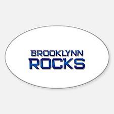 brooklynn rocks Oval Decal