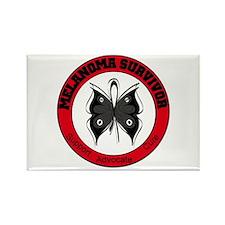 Melanoma Survivor Butterfly Rectangle Magnet
