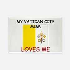 My Vatican City Mom Loves Me Rectangle Magnet