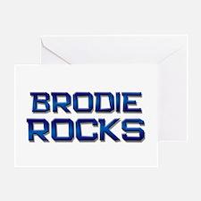 brodie rocks Greeting Card