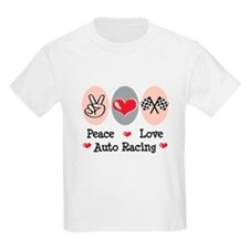 Peace Love Auto Racing T-Shirt