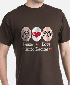 Peace Love Auto Racing T-Shirt