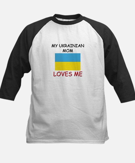 My Ukrainian Mom Loves Me Kids Baseball Jersey