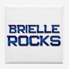 brielle rocks Tile Coaster