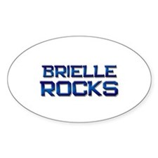 brielle rocks Oval Decal