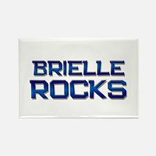 brielle rocks Rectangle Magnet