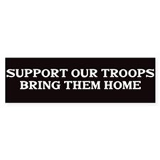 Support out Troops Car Sticker