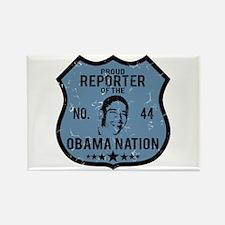 Reporter Obama Nation Rectangle Magnet
