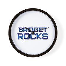 bridget rocks Wall Clock