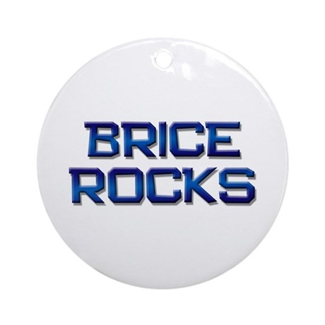 brice rocks Ornament (Round)