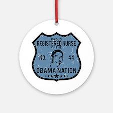 RN Obama Nation Ornament (Round)