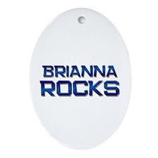 brianna rocks Oval Ornament