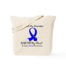 ColonCancerHeart Grandpa Tote Bag