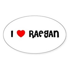 I LOVE RAEGAN Oval Decal