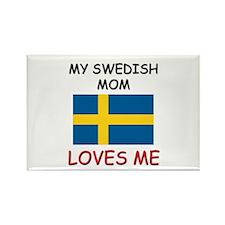 My Swedish Mom Loves Me Rectangle Magnet