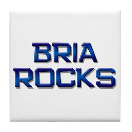 bria rocks Tile Coaster
