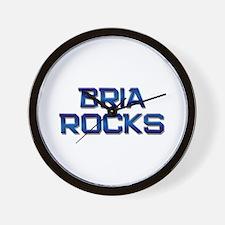 bria rocks Wall Clock