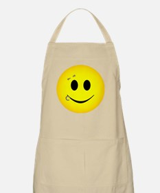 Pierced Smiley Face Apron