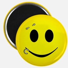 Pierced Smiley Face Magnet