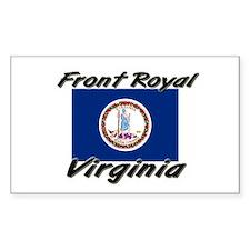 Front Royal virginia Rectangle Decal