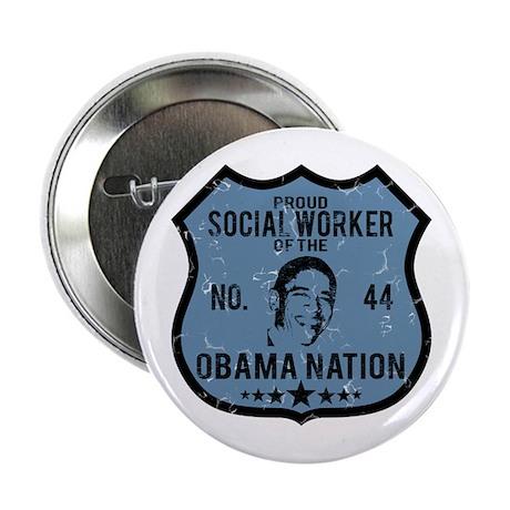 "Social Worker Obama Nation 2.25"" Button"