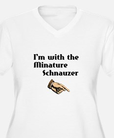 I'm with the Miniature Schnauzer T-Shirt