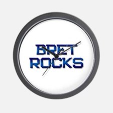 bret rocks Wall Clock