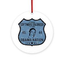 Software Engineer Obama Nation Ornament (Round)