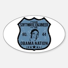 Software Engineer Obama Nation Oval Decal