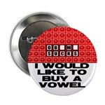 "I would like to buy a vowel 2.25"" Button (100"