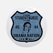 Student Nurse Obama Nation Ornament (Round)
