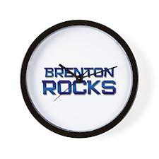 brenton rocks Wall Clock