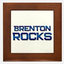 brenton rocks Framed Tile