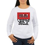 I would like to buy a vowel Women's Long Sleeve T-