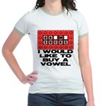 I would like to buy a vowel Jr. Ringer T-Shirt