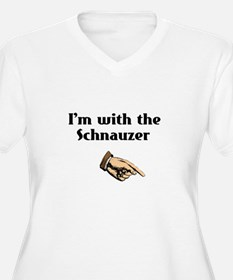 I'm with the Schnauzer T-Shirt